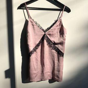 Miss Selfridge high quality silk slip lace tank